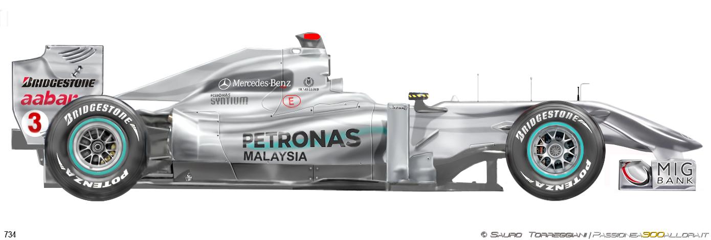 Mercedes W01 2010