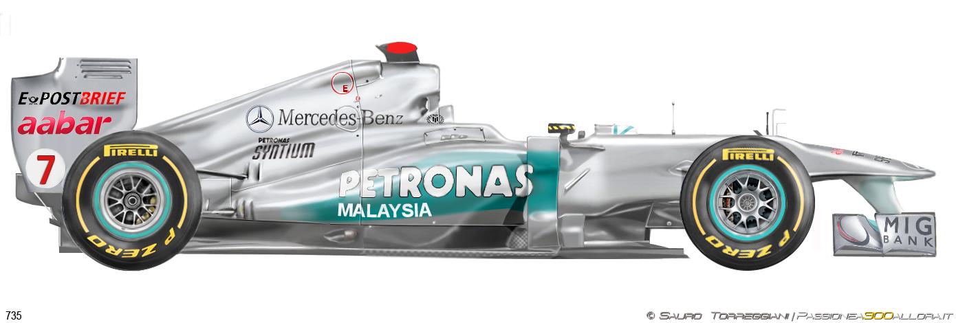 Mercedes W02 2011