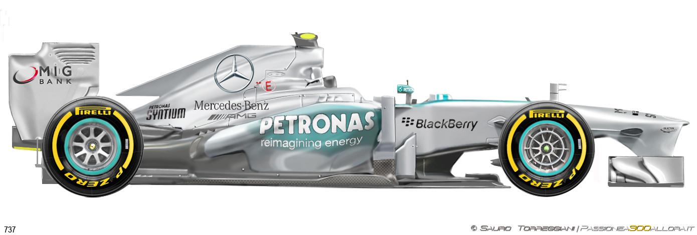 Mercedes W04 2013