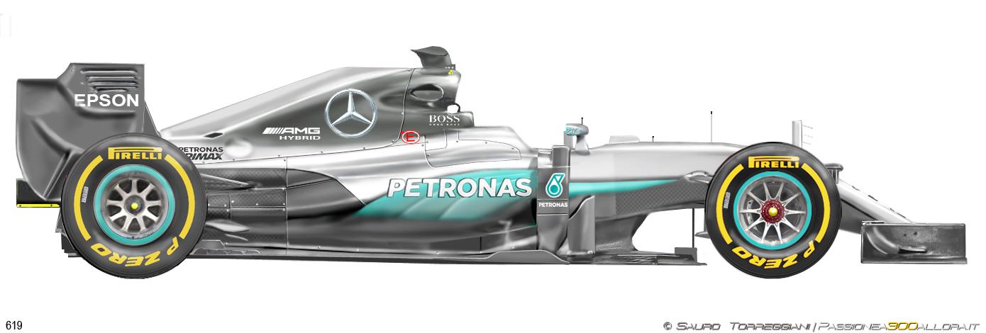 Mercedes W07 2016
